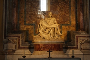 Michelangelo's masterpiece of the Virgin Mary